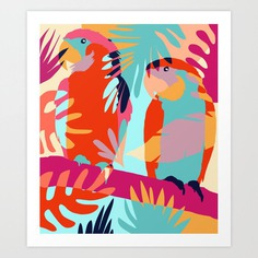 Couples That Camouflage Together, Stay Together #illustration #wildlife Art Print