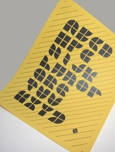 Uni-font #font #text #yellow #black #poster #typography