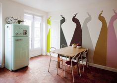 peacocks - Minakani Walls #kitchen #wallpaper