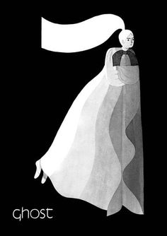 #ghost #illustration by Eleni Kalorkoti