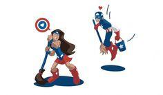 tumblr_lx8lnpNVZC1qevjafo1_1280.jpg (1280×752) #vector #american #captain #cleaning #illustration #america