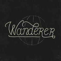 Wanderer Art Print #lettering #wanderlust #travel #wander #hand #typography