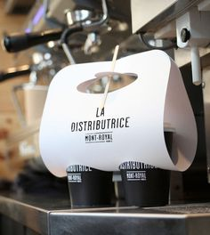La Distributrice: Smallest cafe place in North America The Dieline #packaging