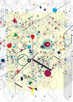 Virtual Caos on the Behance Network #abstract #geometry #shapes #illustrations #empk #colors