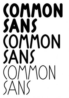 Siggi Eggertsson | Common Sans #typeface #typography