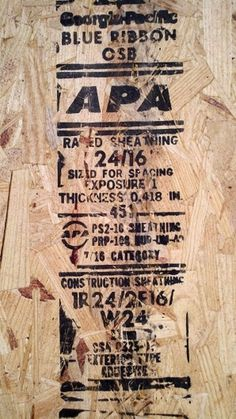 Boarded Up « Day & Age #construction #typography