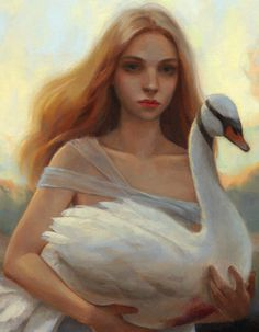 Chrystal Chan's Paintings Inspired by the Supernatural | Hi-Fructose Magazine #swan #woman #girl #bird #painting