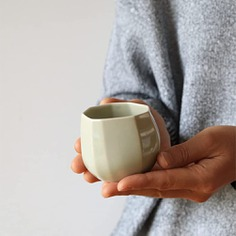 """These ceramic teacups feature a unique chamfered shape and a beautiful glaze handmade using natural pine tree ash. Handcrafted in Seto in Aichi prefecture, they are authentic Seto ware (Seto-mono), a type of Japanese pottery with a long and illustrious history. The word """"Seto-mono"""" has come to be associated with high-end Japanese ceramics."""