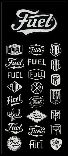Fuel Motorcycles - New logo #typography #type #logo #bmd #fuel #motorcycles