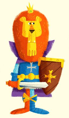 King lionheart #illustration #texture #king #knight #lion