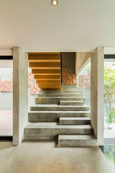 Lumber Shaped-Box House by Atelier Riri #architecture #inspiration #stairs