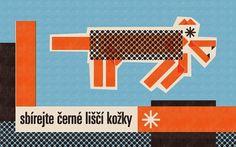 The Fox Is Black » The Desktop Wallpaper Project featuring Pavel Fuksa #matchbox #polish #fuksa #noir #kitsune #design #jergot+gotroch #vintage #pavel #wallpaper