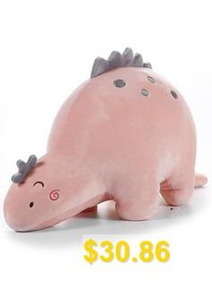 Cartoon #Dinosaur #Shape #Plush #Toy #- #PINK