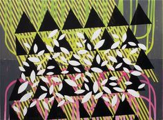 Dan Bina, De Novo #abstract #acrylic #bina #stripes #design #dan #painting #art #triangles #leaves