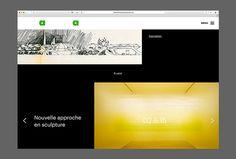Festival art et architecture by Samuel Larocque #web design #website