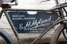Museum of Tradesman's Delivery Bikes #type #lettering #bike