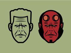 Dribbble - Perlman/Hellboy by Gyula Nemeth #illustration #vector #hellboy