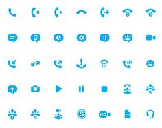 Buzz Usborne - Skype Icon Set #pictogram #iconography #icon #sign #picto #symbol