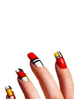PATTERNITY_17_MONDRAINNAILS.jpg (560×747) #art deco #nails #nail polish