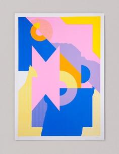 Pink Yellow & Blue - printmakingmoneygang #gezeever #printmakingmoneygang #screenprinting #screenprint #printmaking #printisnotdead #printisntdead #printmakers #silkscreen #printstudio #printspotters #serigraphy #print #design #diy #printart #posterdesign #screenprintinglife #printedmatter #peopleofprint #silkscreen #silkscreenprinting