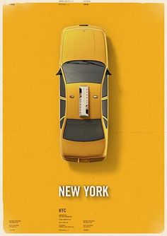 City Cab Poster by Mehmet Gozetlik | TrendLand: Fashion Blog & Trend Magazine