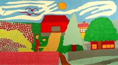 Outsider Folk Art Gallery - Outsider Art | Floretta Emma Warfel | WAF012 | #art #painting #naive