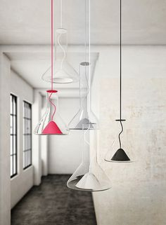 whistle lamps by Lucie Koldova #pendant #lights #glass #koldova #lucie #lamps