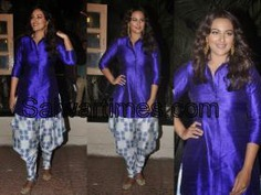 Sonakshi Sinha in Short Kurta and Dhoti Patiala Salwar