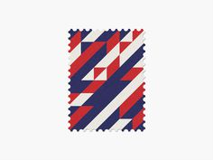 Costa Rica #stamp #graphic #maan #geometric #illustration #minimal #2014 #worldcup #brazil
