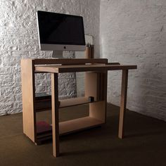 Tablet Desk 2.0 #interior #office #design #wood #desk