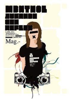 menthol™ para Reflex Mag   Flickr: Intercambio de fotos #girl #illustrator #design #reflexmag #poster #menthol