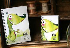www.prinzapfel.com #calender #doodle #dragon #wochenplaner #timeplanner #prinz #planer #illustration #apfel #taschenkalender