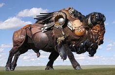 Amazing Metal Animal Sculptures By John Lopez