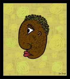 afro.jpg (700×790) #man #portrait #afro