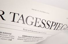 Detail Tagesspiegel Titelblatt #design #germany #newspaper #editorial #berlin