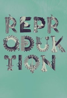 Alphabet [Re:Production] on the Behance Network #collage #poster #typography