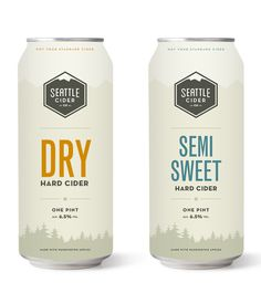 Seattle Cider Co #packaging #seattle #cans #cider #hard cider #tall boy