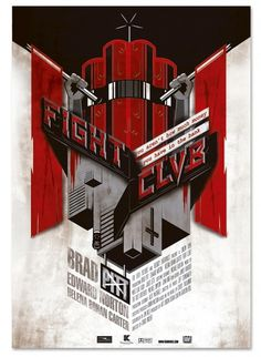 Fight Club Poster on the Behance Network #illustration #design #poster #typography