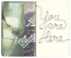 You are here Notebook Sketch - Design Work Life #stamp #script #sketchbook #drawn #type #sketch
