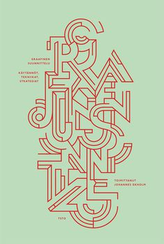 Designmuseum Book JANINE REWELL #font #typeface #poster
