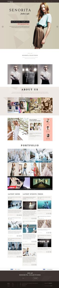 fashion, gossip, website, minimal, clean, concept