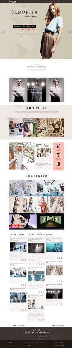 fashion, gossip, website, minimal, clean, concept