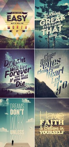 Typographic Inspiring Quotes