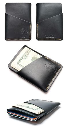Ugmonk Black Leather Card Case #wallet #ampersand #product #photography #leather