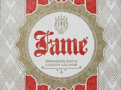 FAME Party Invitation | Studio On Fire #badge #pattern #branding #fame #blackletter #bingo