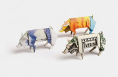 Payment Systems Group on the Behance Network #photo #pig #photography #origami #money
