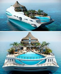 Luxury Overboard: Private Yacht as Tropical Island Paradise | Designs & Ideas on Dornob #amazing #tropical #design #yacht #paradise #cruise #holiday #bali