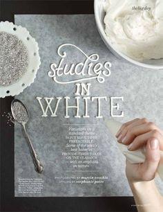 WhiteCakes | Jessica Decker #typography