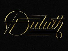 Dribbble - Duluth by Simon Ã…lander #type #lettering