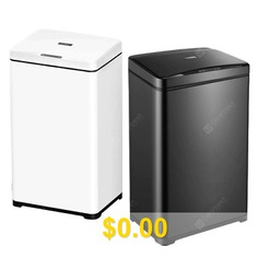 40L #Smart #Sensor #Trash #Can #Large #Size #Home #Kitchen #Commercial #Hotel #Lobby #Creative #Office #Automatic #Electric #- #METEORITE #BLACK #40L